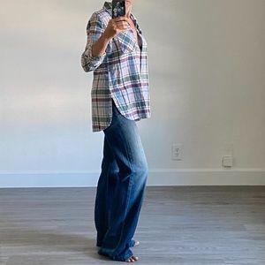 True Craft Flannel Plaid Button Down Shirt L